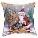 """Christmas Chickadee Joy"" 17"" x 17"" Holiday Pillow From Simply Home"