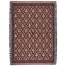 """Fleur De Lis Red"" 50"" x 60"" Tapestry Throw Blanket From Simply Home"