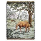 """Lazy Meadow"" 50"" x 70"" Full-Size Tapestry Throw Blanket From Simply Home"
