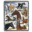 """Horse Sense"" 50"" x 60"" Tapestry Throw Blanket From Simply Home"