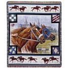 """Day at the Races"" 50"" x 60"" Tapestry Throw Blanket From Simply Home"