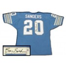 Barry Sanders Autographed Custom Authentic Style Blue Jersey