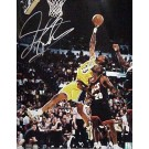 "Dennis Rodman Autographed Los Angeles Lakers (Rebounding vs. Sonics) 16"" x 20"" Photograph... by"