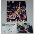 "Dennis Rodman Autographed Los Angeles Lakers ""Rebounding vs. Seattle Supersonics"" 8""... by"