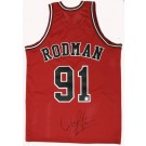 Dennis Rodman Autographed Chicago Bulls Authentic Red Basketball Jersey