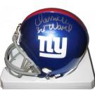Derrick Ward New York Giants Autographed Riddell Mini Helmet