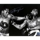 """Joe Frazier Autographed """"The Punch"""" 16"""" x 20"""" Black & White Photograph with Muhammad Ali (Unframed)"""