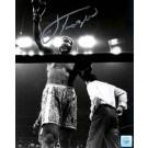 "Joe Frazier Autographed ""Arm Raised"" 16"" x 20"" Black & White Photograph with Muhammad Ali (Unframed)"