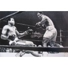 "Joe Frazier Autographed ""vs. Muhammad Ali: Fight Of The Century Knockdown"" Limited Edition Black and White 20"" x 30"" Photograph with ""Smokin'"" Inscription (Unframed)"