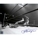 "Joe Frazier Autographed ""Ali/Frazier Knockdown II"" 8"" x 10"" Black & White Photograph (Unframed)"