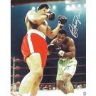 "Joe Frazier Autographed ""Ali / Frazier I Ducking"" 8"" x 10"" Color Photograph  (Unframed)"