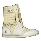 "Joe Frazier Autographed Everlast Boxing Shoes with ""Smokin'"" Inscription (Two Shoes, One Signed)"