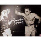 "Jake LaMotta Autographed ""LaMotta Bloodied"" 8"" x 10"" Unframed Black & White Photograph"