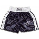Jake LaMotta Autographed Everlast Black Satin Trunks
