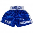 Ken Norton Autographed Everlast Blue Trunks