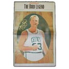 Larry Bird Autographed Retirement Newspaper