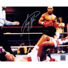 "Larry Holmes Autographed ""Larry Holmes KO'd By Mike Tyson"" 8"" x 10"" Photograph (Unframed)"