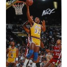 "Magic Johnson Autographed ""Layup vs. the Los Angeles Clippers"" 16"" x 20"" Photograph (Unframed)"