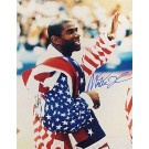 "Magic Johnson Autographed ""Close Up Olympic Flag"" 16"" x 20"" Photograph (Unframed)"