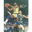 "Magic Johnson Autographed ""Layup vs. Boston Celtics"" 16"" x 20"" Photograph (Unframed)"