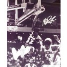 "Magic Johnson Autographed ""Dunking Over Julius Erving"" Black and White 16"" x 20"" Photograph (Unframed)"