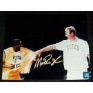 "Magic Johnson Autographed ""Bird Retirement Night"" 16"" x 20"" Color Photograph (Unframed)"