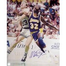 "Magic Johnson Autographed ""vs. Larry Bird Post Up"" 8"" x 10"" Photograph (Unframed)"