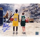 "Magic Johnson Autographed ""Children at the Boston Garden with Larry Bird"" 8"" x 10"" Photograph (Unframed)"