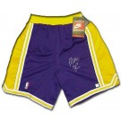 Magic Johnson Autographed Los Angeles Lakers Heavyweight Pro Model Shorts