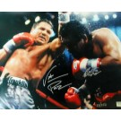 "Roberto Duran and Vinny Paz Autographed 16"" x 20"" Photograph (Unframed)"