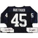 Rudy Ruettiger and Sean Astin Notre Dame Fighting Irish Autographed Authentic NCAA Football Jersey