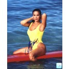 "Stacy Kamano Autographed ""Baywatch Posing on Surfboard"" 8"" x 10"" Color Photograph  (Unframed)"