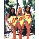 "Stacy Kamano and Brande Roderick Autographed ""Baywatch Triple Shot"" 8"" x 10"" Color Photograph  (Unframed)"