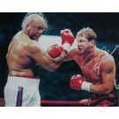"""Tommy Morrison Autographed """"vs. George Foreman"""" 16"""" x 20"""" Photograph (Unframed)"""