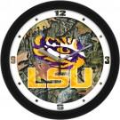 """Louisiana State (LSU) Tigers 12"""" Camo Wall Clock"""