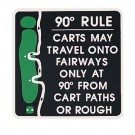 """12"""" x 12"""" """"90° Rule"""" Information Sign"""