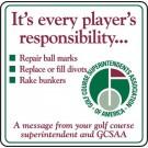 """12"""" x 12"""" GCSAA Message Information Sign"""