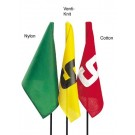 "20"" x 14"" Numbered (1-9) Red Nylon Golf Flag with Grommets - Set of 9 Flags"