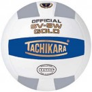 "Tachikara NFHS Official Indoor SV5W Gold Premium Leather ""College Shield"" Volleyball by"