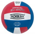 Tachikara Indoor Full Grain Leather Competition Volleyball (Scarlet / White / Royal)