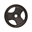5 lb. Olympic Tri-Grip Urethane Weight Plate (Black) from TKO Sports
