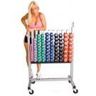 Neoprene / Vinyl Dumbbell Storage Rack from TKO Sports