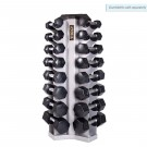 8 Pair Vertical Dumbbell Rack (Silver Metallic) from TKO Sports
