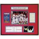 "2002 World Series Anaheim Angels Ticket Frame - Includes Statistics and Game Photograph (22""(W) x 18""(H))"