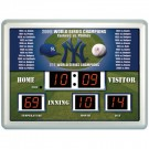 "New York Yankees 14"" x 19"" LED Scoreboard Clock and Thermometer"