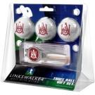 Alabama A & M Bulldogs 3 Ball Golf Gift Pack with Kool Tool