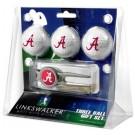 Alabama Crimson Tide 3 Ball Golf Gift Pack with Kool Tool