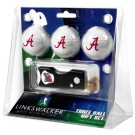 Alabama Crimson Tide 3 Golf Ball Gift Pack with Spring Action Tool