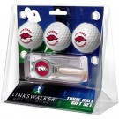 Arkansas Razorbacks 3 Ball Golf Gift Pack with Kool Tool