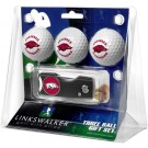 Arkansas Razorbacks 3 Golf Ball Gift Pack with Spring Action Tool